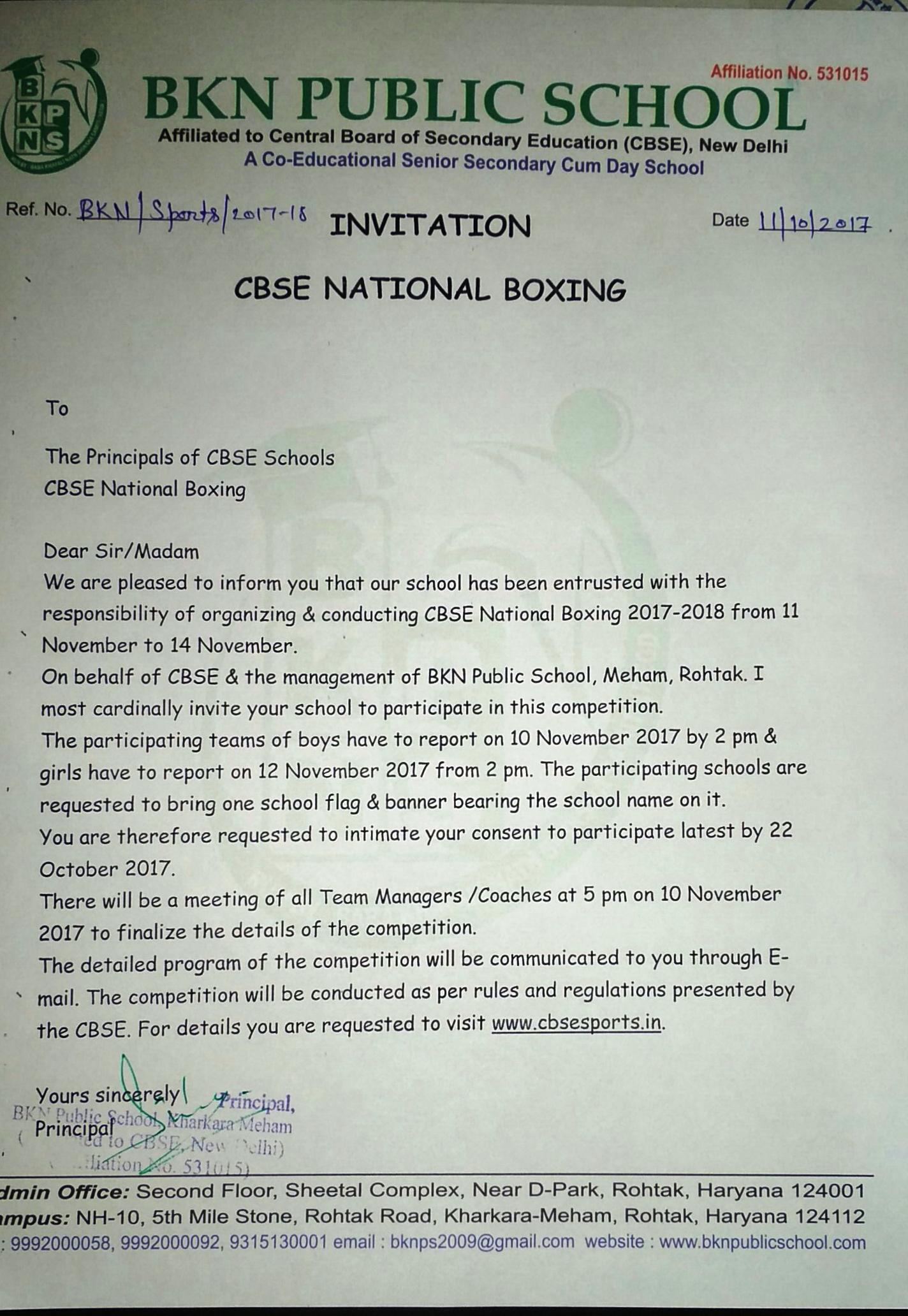 Bkn public school invitation letters to schools stopboris Choice Image